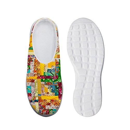 Fashion Design Sandalen Multicolor Bloemen Ademend Mesh Slip-ons Lui Schoenen Meisjes Multicolor2