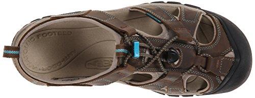 Keen ARROYO II 1226-GYTO - Zapatillas de deporte de cuero nobuck para hombre - Dark earth/caribbean sea