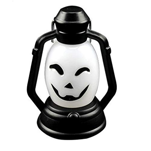 Light 1Watts Pumpkin Lamp Portable Hanging Lamp Scary Horror Colorful Flash LED Lantern Lighter Halloween Decorations(1PCS)]()
