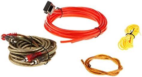 Homyl 素晴らしいパフォーマンスカーオーディオサブウーファーサブアンプAMP RCA配線キット126