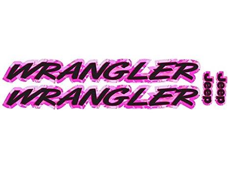 a93dbcc0 Amazon.com: Wrangler - Pink Camo - 2 piece hood decal set for Jeep ...