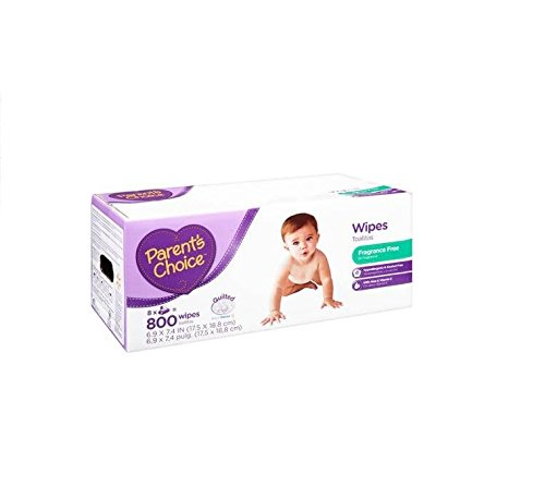 Parents Choice 800 sheets Quilted soft & Fragrance Free Baby Wipes