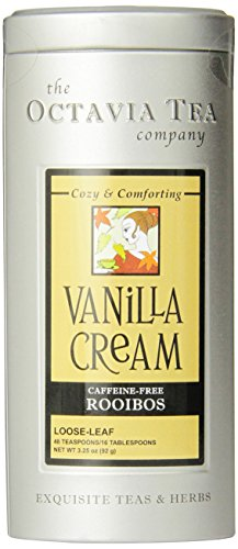 Vanilla Dessert - Octavia Tea Vanilla Cream (Caffeine-Free Red Tea/Rooibos) Loose Tea, 3.25 Ounce Tin