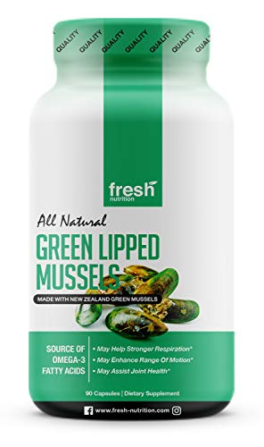 Green Lipped Mussel Capsules - Strongest DNA Verified from New Zealand - Great for Humans and Dogs Alike! Perna Canaliculus Omega Supplement for Hip and Joint Relief - Joint Pain Supplement