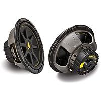 Kicker 12-Inch 300W Power Car Audio Subwoofers Subs C124, Pair | 10C124