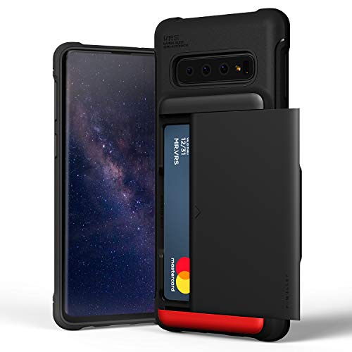 Galaxy S10 Case VRS Design Slim Hybrid Premium Wallet Case Card Slot Holder Shockproof [Damda Glide Shield] [Matte Black] Heavy Duty Compatible with Galaxy S10 6.1 inch (2019)