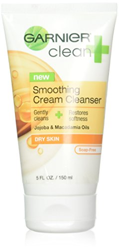 Garnier Clean Cleanser Cream Smoothing 5oz Tube (3 Pack)
