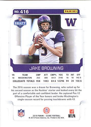 new style 01b5c bc195 Amazon.com: 2019 Score #416 Jake Browning Washington Huskies ...