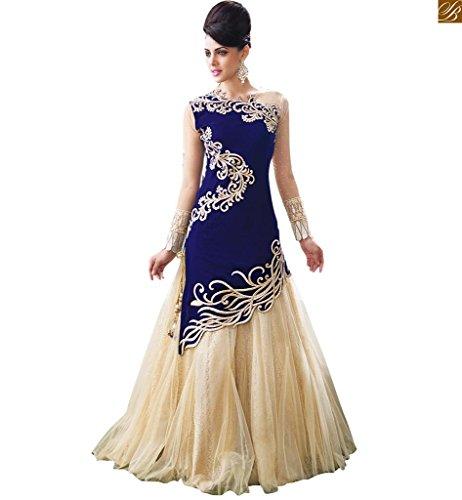 blue anarkali dress - 2