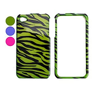 Stripe Pattern Style Back Case and Bumper Frame for iPhone 4 and 4S (Assorted Colors) --- COLOR:Blue