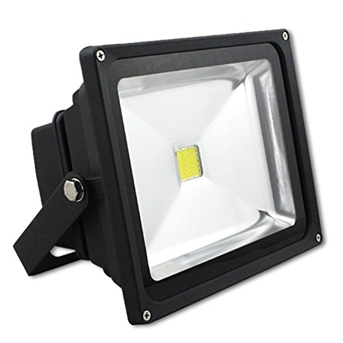 YAYZA! Dusk Till Dawn IP65 Waterproof Outdoor Security LED Floodlight with Built-in Photocell Sensor 20W Cool White