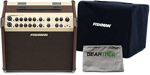 Fishman PRO-LBX-600 Loudbox Artist Acoustic Guitar Amp w/ Geartree Cloth and Slip Cover by F I S H M A N