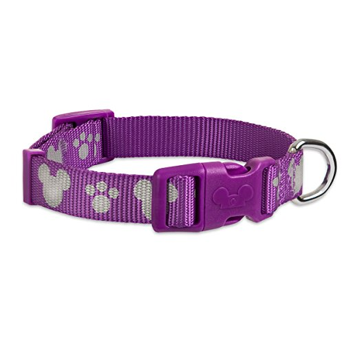 Mice Collar Reflective - Disney Parks - Tails - Mickey Mouse Reflective Dog Collar - Purple - Large