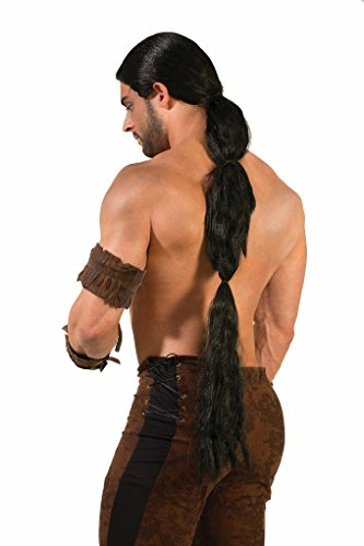 (Medieval Fantasy Long Black Warrior Wig - Khal Drogo Game of)