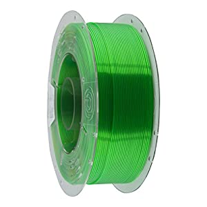 Primacreator easyprint 3d printer filament – petg – 2.85mm – 1 kg (2.2 lbs) – transparent green