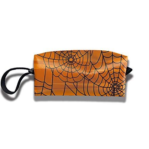 Travel Toiletry Pouch Spider Web Shaving Kit Make-up Bag with Handle,Portable Organizer Receive Cosmetic Storage Case for Women and Men ()