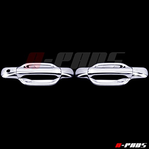 A-PADS 2 Chrome Door Handle Covers for Chevy COLORADO 2004-2012 & GMC CANYON 04-2011 - WITHOUT Passenger Keyhole