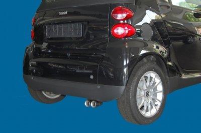 ULTER MONTI Doppelendrohr 2 x 60 mm 451 Modelle 4.2007-10.2010 Turbo Benziner und Diesel,Auspuffblende aus Edelstahl,mit Absorber und ABE
