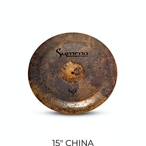 Symrna Cymbals 15″ CHINA Hand Hammered Cymbal Made in ISTANBUL Raven Series (Weight: Thin) 2-YEAR Warranty