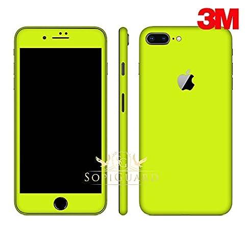 SopiGuard iPhone 8 Plus Carbon Fiber Full Body Precision Edge-to-Edge Coverage Easy-to-Apply Vinyl Skin Sticker (3M Neon (Iphone 4s Privacy Screen 3m)