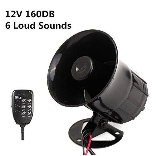 6 Sounds 160db Car Warning Alarm Auto Police Fire Horn Siren Speaker Mic System