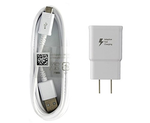 Samsung Adaptive Fast Charger for Galaxy S7/S7 Edge/S6/Edge/Edge+/ (EP-TA20JWE/EP-DG925UWE) White Bulk Packing
