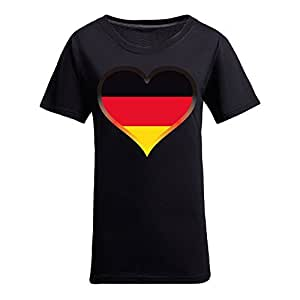 Brasil 2014 FIFA World Cup Theme Short Sleeve T-shirt,Football Background Womens Cotton shirts for Fans