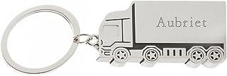 Shopzeus Porte-clé camion en métal engravé avec nom: Aubriet (Noms/Prénoms)
