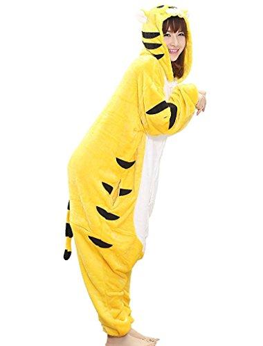 Traje de animales para adultos - cómodo felpa pijama - diferentes animales para elegir Tigre
