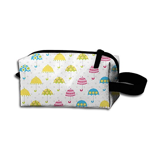 Makeup Cosmetic Bag Colorful Umbrella Zip Travel Portable Storage Pouch For Mens Womens