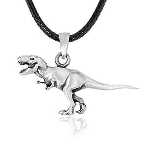 Dan's Jewelers T-Rex Dinosaur Pendant Necklace, Fine Pewter Jewelry