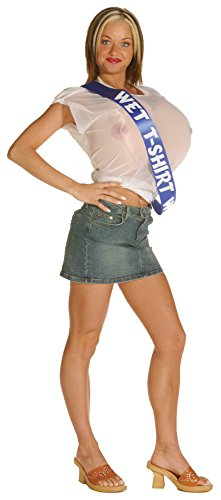UHC Women's Wet T-Shirt Funny Theme Party Adult Halloween Costume, OS (Disney Villain Costume)