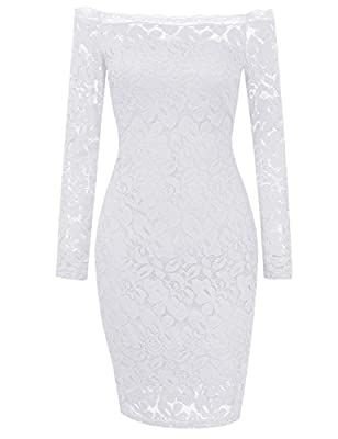 HiQueen Women Sexy Lace Cocktail club Bodycon Evening wedding Party pencil Dress