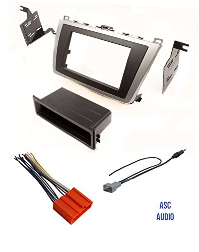 - ASC Car Stereo Dash Install Kit, Wire Harness, and Antenna Adapter for 2009 2010 2011 2012 2013 Mazda 6 Mazda6
