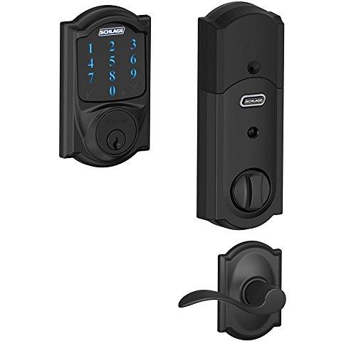 Schlage BE469 CAM622 Touchscreen Deadbolt w/Alarm & Lever in