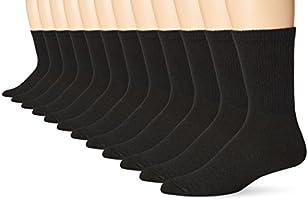 Hanes Men's 12-Pack Crew Socks