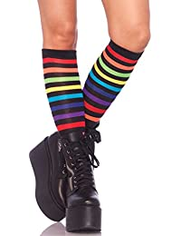 Women's Rainbow Striped Knee High Socks