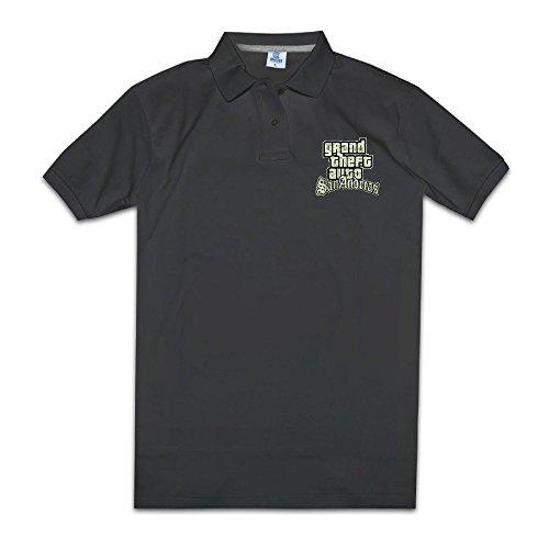 Men's Grand Theft Auto San Andreas Logo Customized Polo Shirt Size XXL (Customized Monopoly Games)