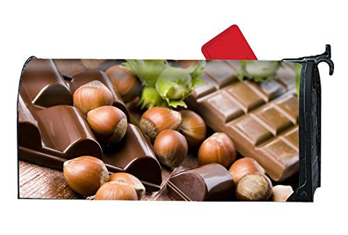(Tollyee Chocolate Nuts Tile Magnetic Mailbox Cover Mailwrap, All Weather, Mailbox Covers and Wraps Mailbox Magnetic Mailbox Cover 9