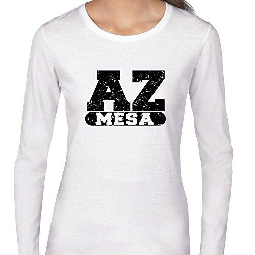 Hollywood Thread Mesa, Arizona AZ Classic City State Sign Women's Long Sleeve T-Shirt
