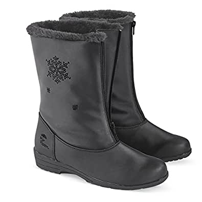 Amazon.com: Collections Etc Totes Snowflake Waterproof Boots: Shoes