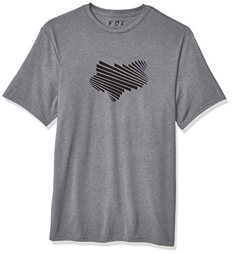 - Fox Men's Clash Short Sleeve TECH T-Shirt, Heather Graphite, L
