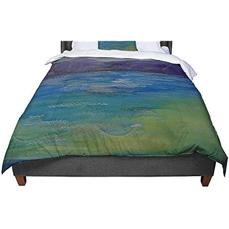 KESS InHouse Cyndi Steen Purple Mountains Blue Green Twin Comforter 68 X 88