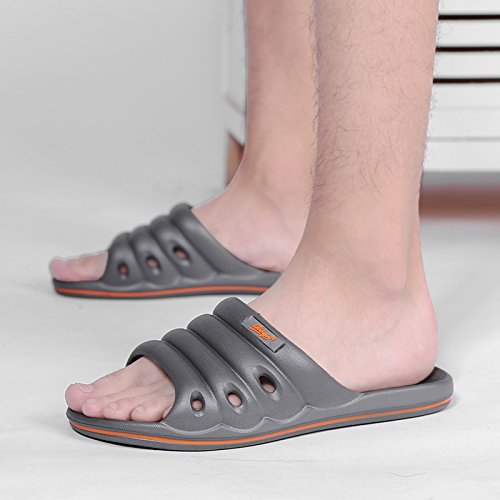 Summer Bathroom Indoor Household Bath Gray Plastic Cool Slippers Men Home Light 40 Stay Non Slippers and Slippers fankou Slip Soft IxA6C7x