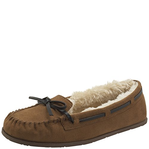 Airwalk Women's Cognac Women's Flurry Moc 9.5 Regular (Womens Brown Moccasins)