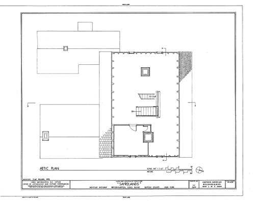 - Historic Pictoric Blueprint Diagram HABS NY,52-BRIG,3- (Sheet 5 of 11) - Sayrelands, Montauk Highway, Bridgehampton, Suffolk County, NY 44in x 32in