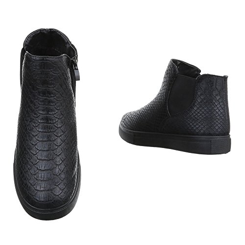 Botas Ital Mujer negro Chelsea Design 6xqRqwY5HF