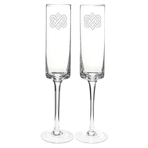 Cathy's Concepts Celtic Knot Contemporary Champagne Flutes ()