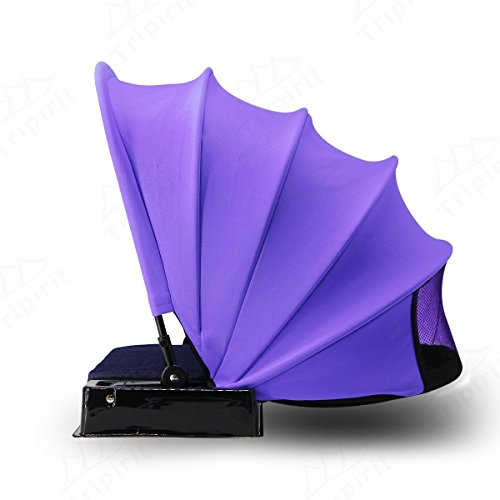 - Tripirit Portable Sun Shade Canopy - Small Sun Beach Shader Beach Shelter, Sun Protection for Face while Sunbathing - Purple