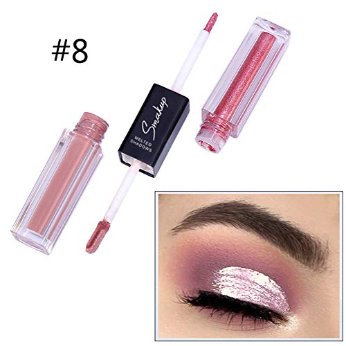 ARTIFUN Shimmer & Matte Combinations Liquid Eyeshadow Stick, Double-end Glitter Matt Eye shadow Makeup Pigment Set, 10 Color for Choose